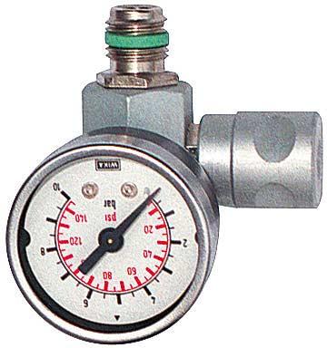 """Aircraft Regulátor tlaku s manometrem 10 bar, 1/4"""" - 2101910"""