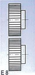 Metallkraft Rolny typ E8 (pro SBM 140-12 a 140-12 E)