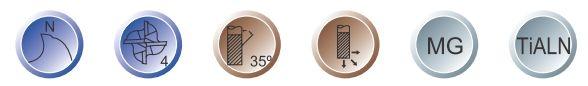 Optimum 3352118 profi stopkové frézy - sada 18 ks