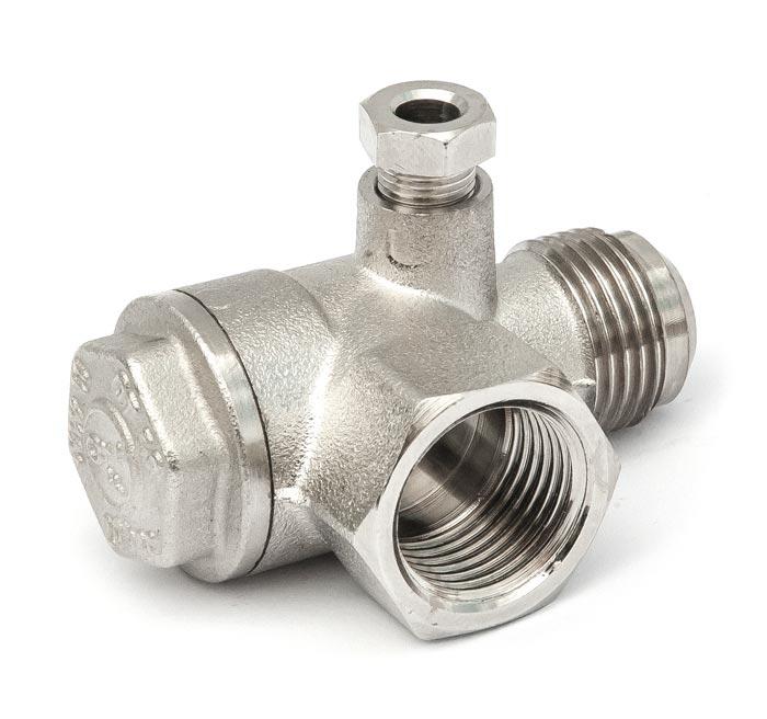 """Aircraft Zpětný ventil 1/2"""" IG x 1/2"""" AG"""