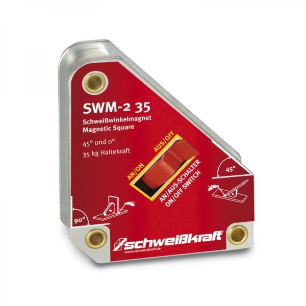 Schweißkraft®Vypínatelný svařovací úhlový magnet SWM-2 35