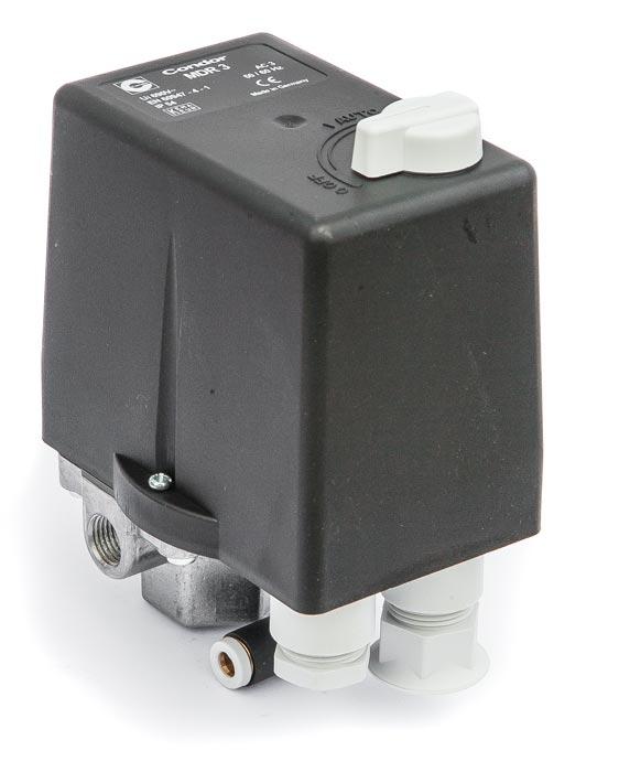CONDOR MDR 3/11 tlakový spínač 11 bar/6,3-10 A - 210304