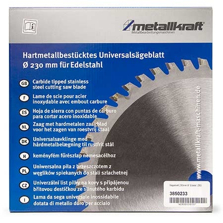 Metallkraft 3850233 pilový kotouč na ušlechtilou ocel 230 mm