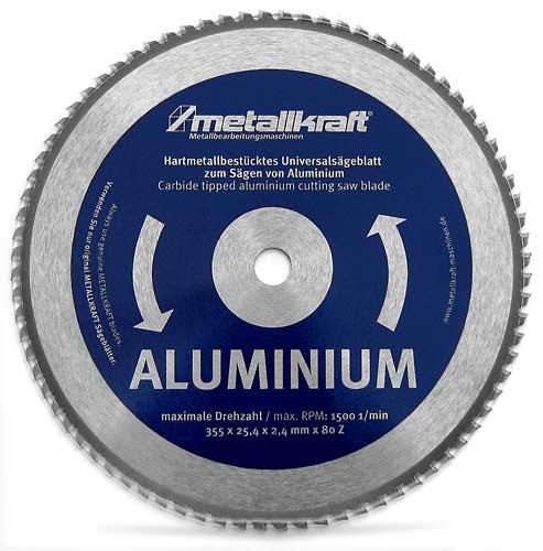 Metallkraft 3853502 pilový kotouč na hliník 355 mm