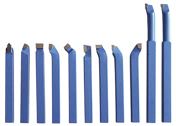 Optimum 3441602 Soustružnické nože HM 10 mm, 11 ks