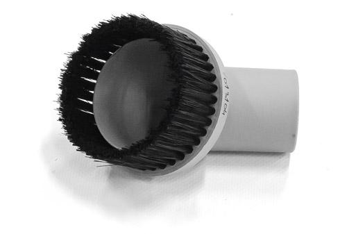Cleancraft Kulatý kartáč, Ø 36 mm, sací Ø 65 mm, šedý - 7013104