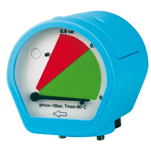 Aircraft Manometr rozdílu tlaku MDM 60 C s beznapěťovým kontaktem alarmu - 2053066
